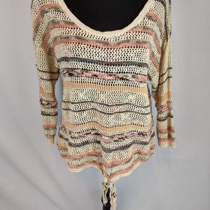 American Rag tie bottom knit
